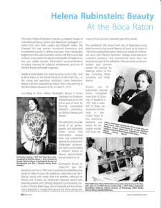 Travel Host Article – Helena Rubinstein: Beauty is Power on Exhibition at Boca Raton Museum of Art by Dindy Yokel
