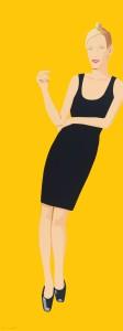 Alex Katz, 'Black Dress 3 (Oona)', 2015, 32-color silkscreen, Edition 35, 80 x 30 inches, Vertu Gallery, Boca Raton